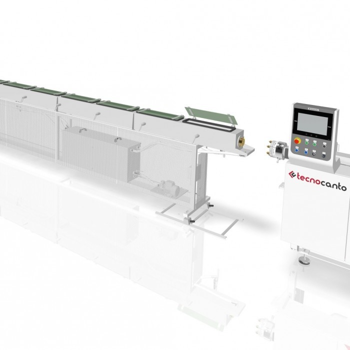 Extrusion line for small medical tube