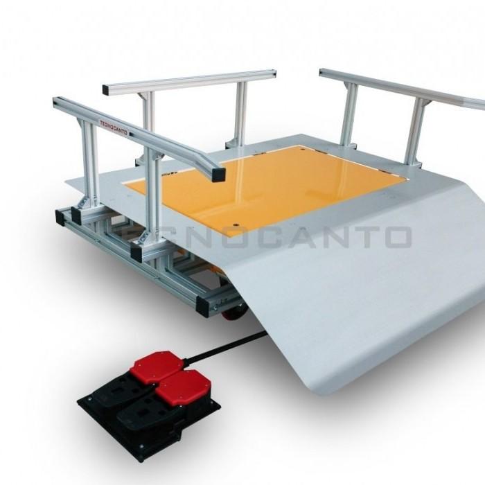 Mesa de elevação para acondicionamento de bag-in-box